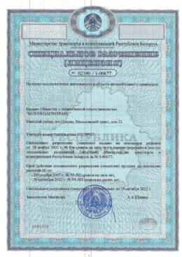 Лицензия на перевозки, стр. 1